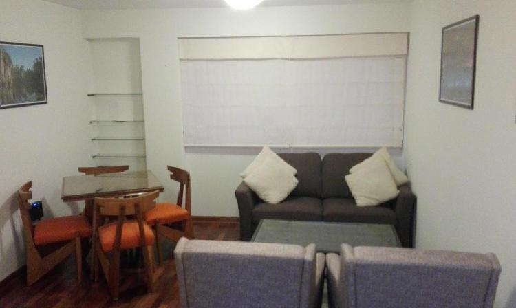 Departamento Amoblado en Miraflores con Vista Exterior -