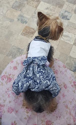 Vestido Para Mascota Perros Gatos - Globo Azul
