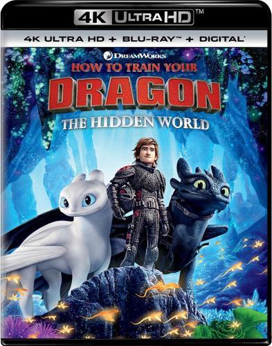 Blu ray cómo entrenar a tu dragón 3 en 2d - 4k - stock