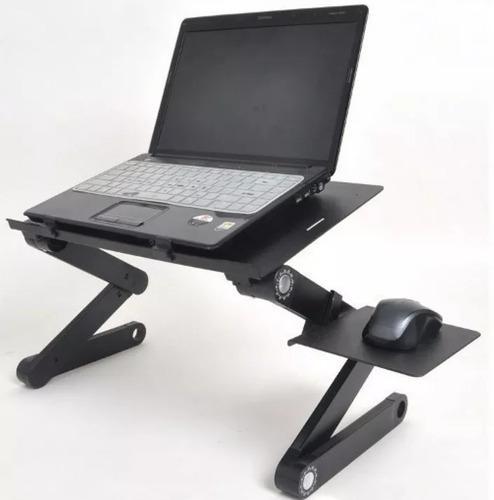 Mesa cooler de metal para laptop posa mouse 2 ventilador