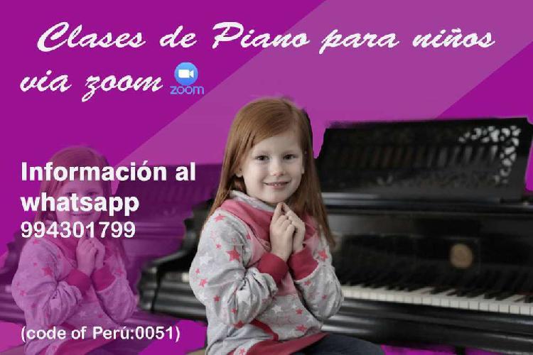 Clases de piano por video llamada