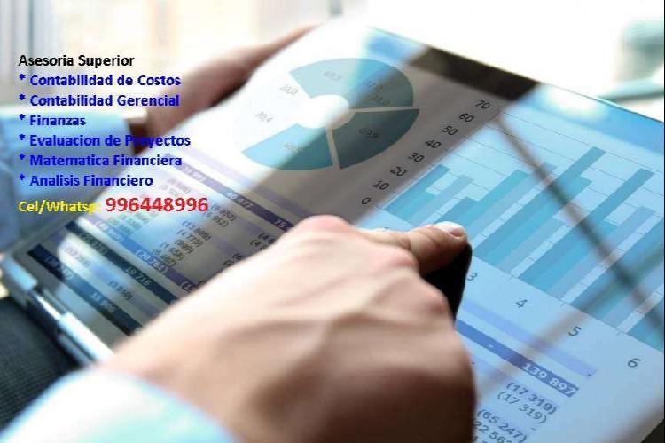 Clases particulares contabilidad de costos, finanzas,