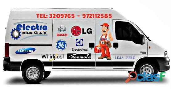 servicio alistado, servicio tecnico de refrigeradoras samsung, 972112588