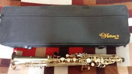Nuevo!!! saxo soprano dorado holtons !!!!,
