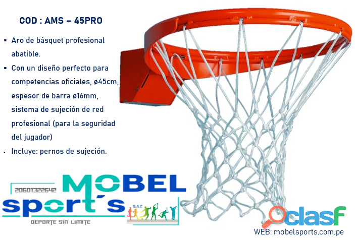 Aro de basquet con resorte