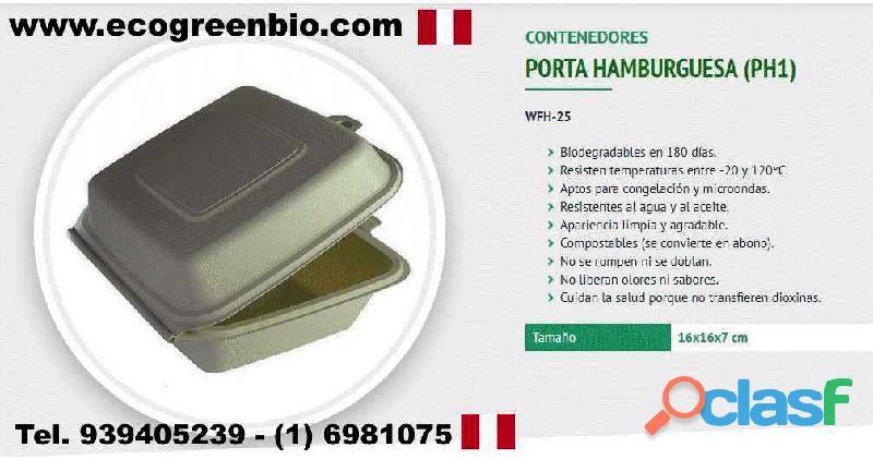 Contenedores vasos cubiertos biodegradables lima perú para alimentos certificación fda