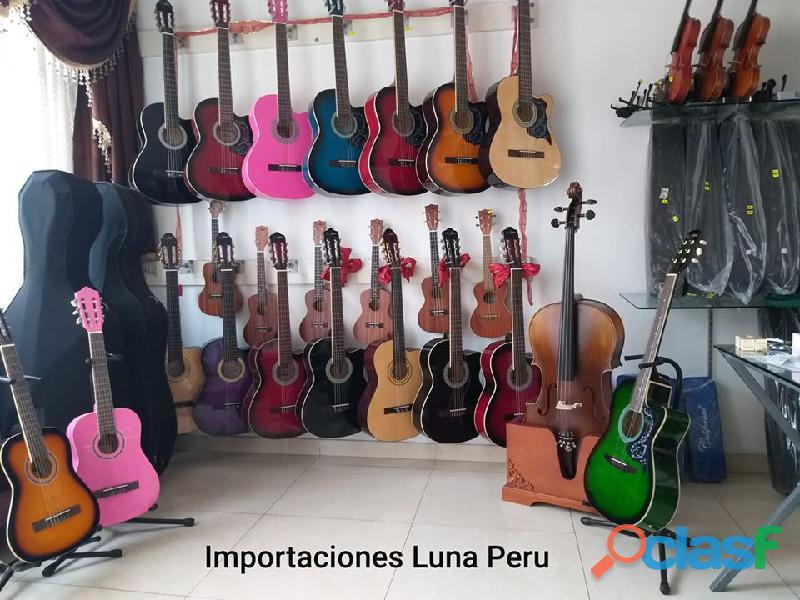 guitarra acustica clasica rosada negra azul natural morado