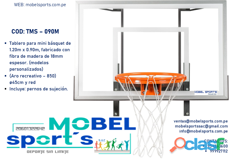 MINI TABLERO DE BASQUET