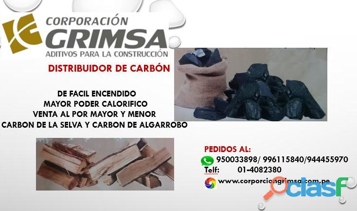 venta de carbon l por myor y menor en lima