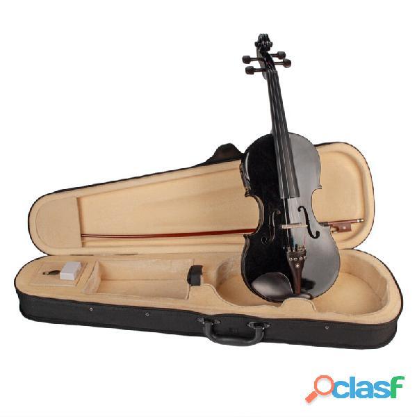 violin 4/4 colore negro accesorio ebano