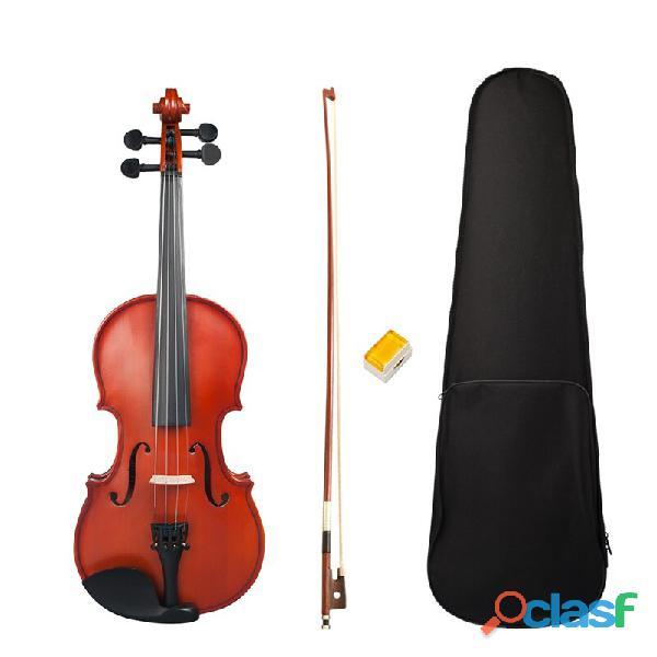 Violin calibrado arco estuche pez 1/8 1/4 2/4 1/2 3/4 4/4