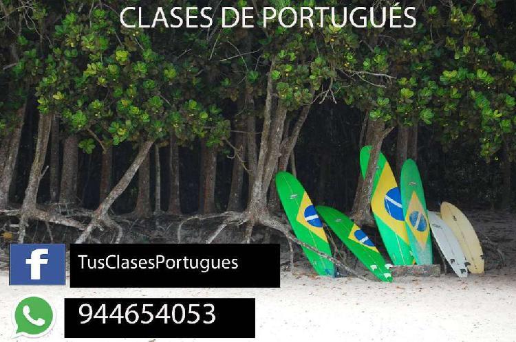Clases de portugués online- sin salir de casa - via skype