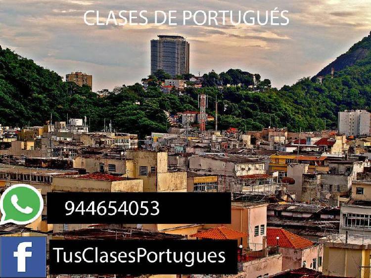 Clases de portugués- trabajos online- tareas y más