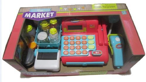 Caja registradora de juguete luz y sonido, 26 accesorios