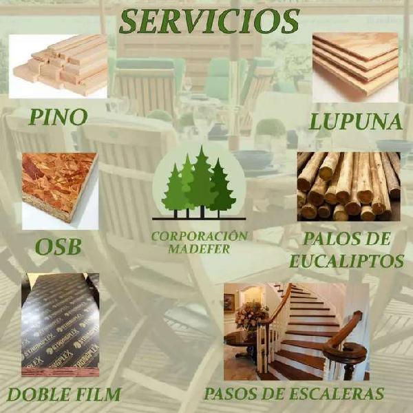 Distribuimos maderas en general palos de eucalipto