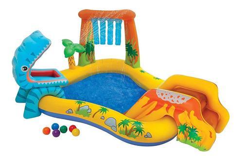 Intex piscina centro juegos inflable dinosaurio