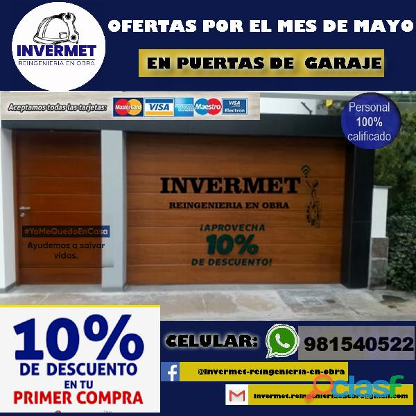 PUERTAS GARAJE SECCIONAL INVERMET