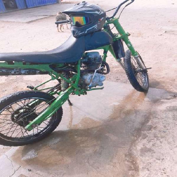Color verde marca wanxin motocroos