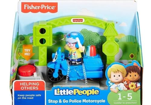 Little people moto de policía - fisher price