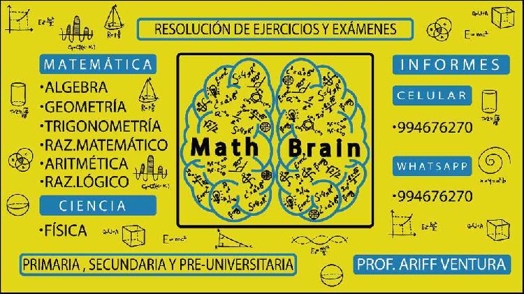 Profesor particular de matemática (primaria, secundaria y