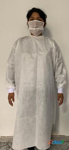 Bata blanca quirúrgica estéril descartable