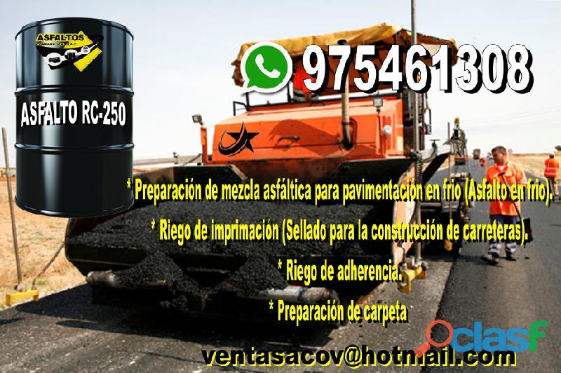 Venta de asfalto rc 250 informes 975461308