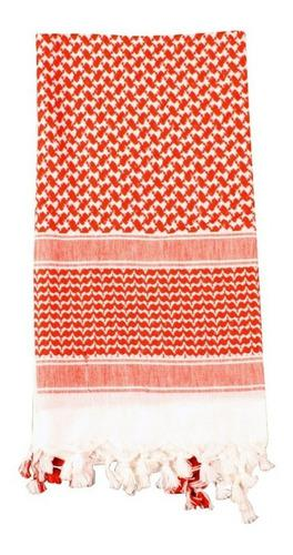 Shemagh tactico rojo y blanco original india