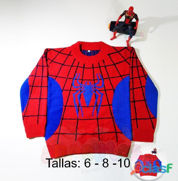 Chompas para niños, ropa, avengers, pony, hombre araña, hulk