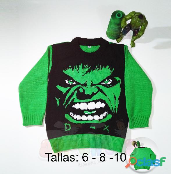 Chompas para niños, ropa, avengers, Pony, Hombre Araña, Hulk 2