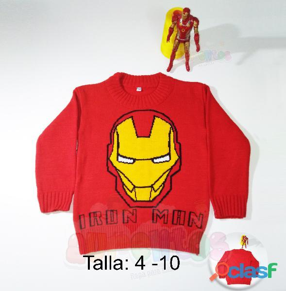 Chompas para niños, ropa, avengers, Pony, Hombre Araña, Hulk 3
