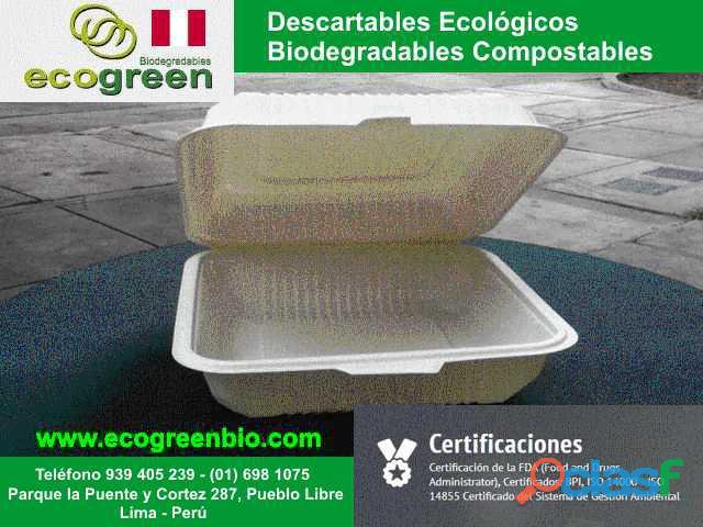 Descartables biodegradables para alimentos lima perú con certificación fda lima perú platos, bandeja