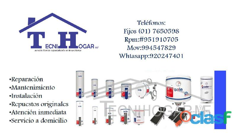 Sole reparaciones de termas a eléctricas a gas termotanques 7650598