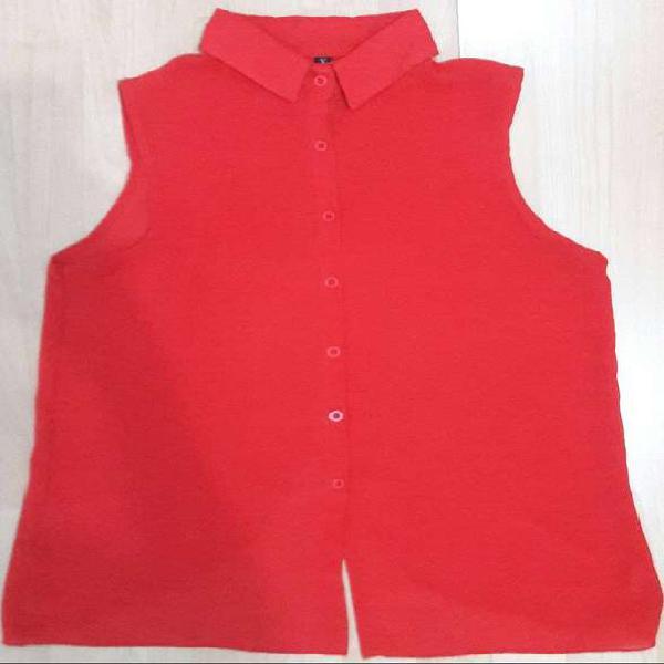 Blusa roja manga