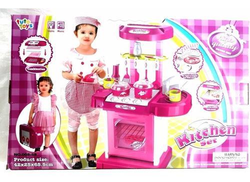 Cocina para niña juguete tipo maleta