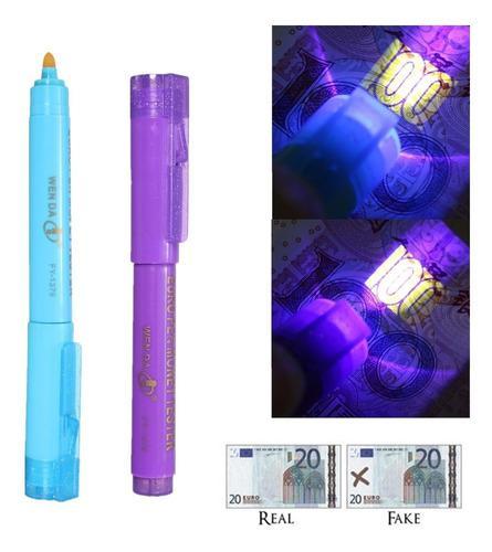 Detector billete falso tipo plumón con luz uv 6 x s/26.50