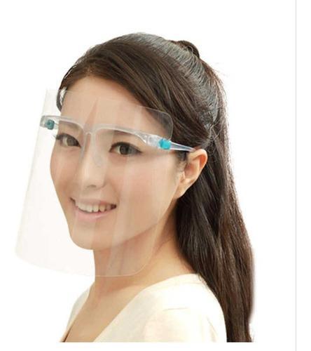 Protector facial estetico c/montura tipo lente