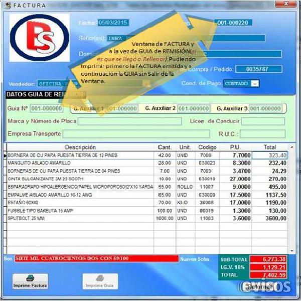Software sistema de facturacion basico adaptable