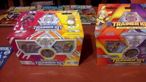 Pokemon trainer kit cartas originales con moneda brillante