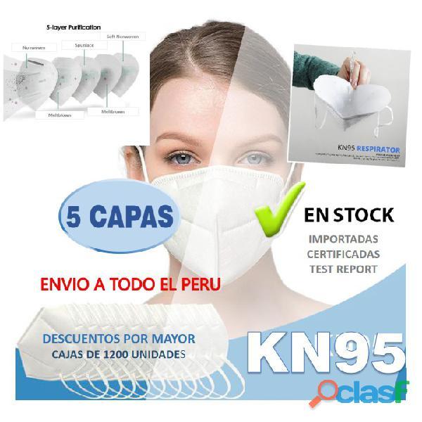 Mascarilla kn95 para protección de virus y bacterias (bolsa x 10 unidades)
