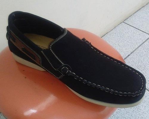 Zapato mocasín hombre - talla 40 zapatilla cuero nobuk