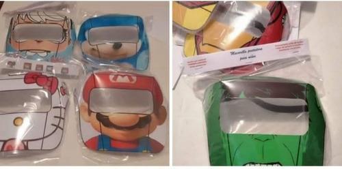Careta, protector facial, niños niñas