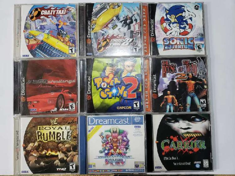 Sega dreamcast power stone sonic the house of the dead