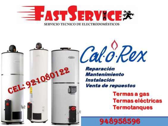 Servicio técnico de termas calorex a gas eléctricas a