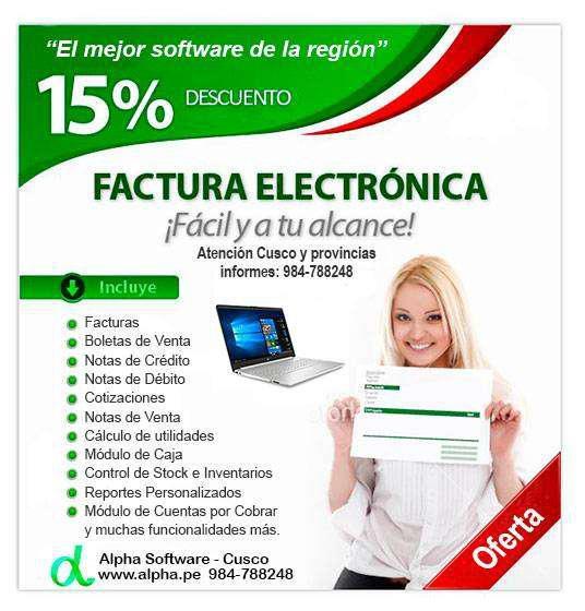 Alpha software o programa de facturación electrónica,