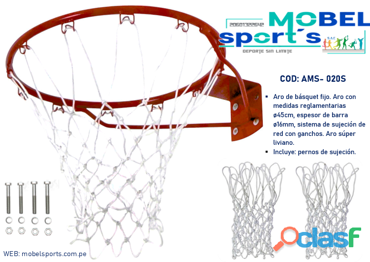 Aro de basquet recreativo   mobel sport´s