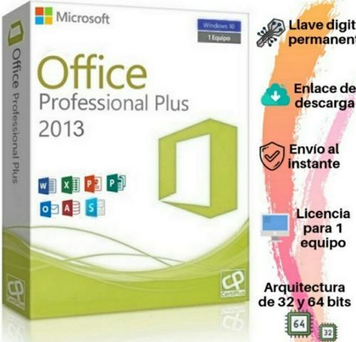 Licencia office pro plus 2013 original 1pc permamente retail