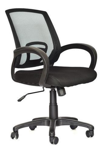 Silla giratoria oficina escritorio malla negra