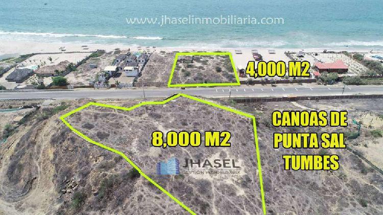 CANOAS DE PUNTA SAL VENTA DE TERRENO DE 8,000 M2 EN TUMBES