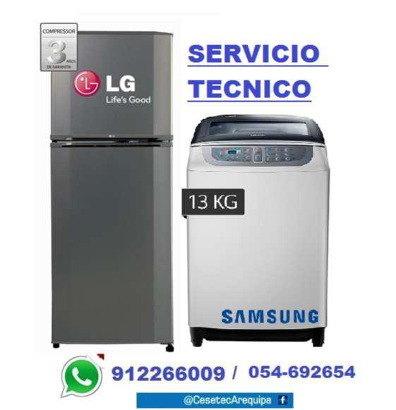 Empresa cesetec reparacion lavadoras refrigeradoras lg