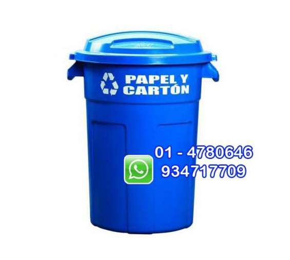 Tachos de basura de plástico en lima